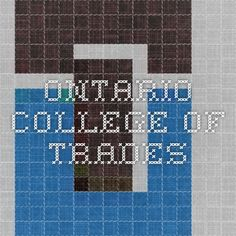 Ontario College of Trades Education And Training, Job Search, Ontario, College, University