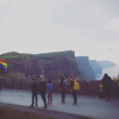 Love this picture and I'm very happy that beautiful Ireland also officially came to understand that in our world, there is no place for Homophobia, Facism, Sexism, Racism and Hate.  Just LOVE. Everything and everyone. This flag symbolises so much more.   #cliffsofmoher #ireland #nature #equality #love #rainbow #flag #yeswecan #lgbt #travel #october #2015