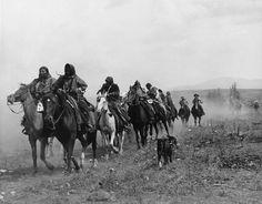 Native Peoples with horses, Idaho