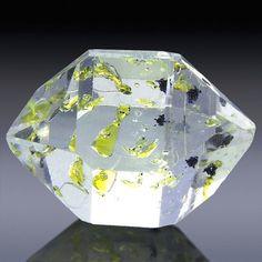 Herkimer Diamond with Petroleum Enhydros