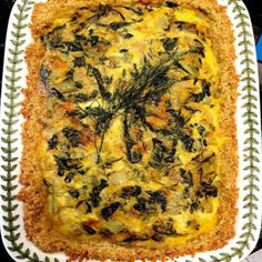 Swiss Chard Quiche with Quinoa Crust
