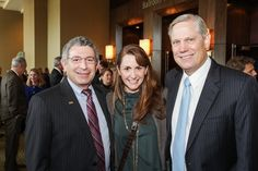 Dr. Paul Klotman, from left, with Brooke and Corby Robertson at the National Philanthropy Day Awards November 2014.