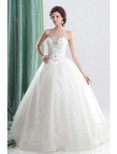 Fabulous Ball Gown Sweetheart Basque Waist Floor Length Tulle Wedding Dress CWLF13008 $346.50 wedding dress, wedding dress, wedding dress, wedding dress, wedding dress