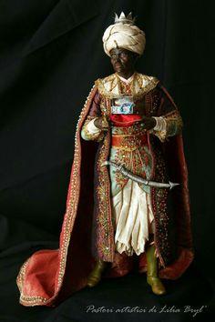 Rey Mago de Oriente Baltazar, quien representa a la cultura africana de la Edad Media.