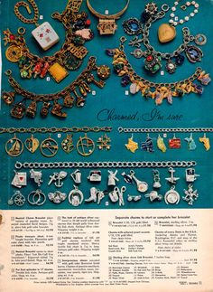 charm bracelets / 1959 Sears Christmas book