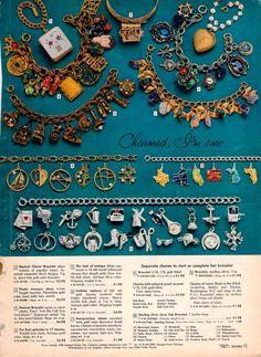 charm bracelets / 1959 Sears Christmas book