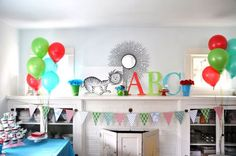 Great colors for the alphabet themed party.