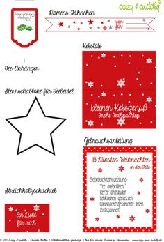 Weihnachten in der Tüte Printable