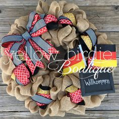 Hey, I found this really awesome Etsy listing at https://www.etsy.com/listing/259161637/germany-wreath-country-burlap-wreath