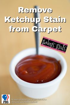 Remove Ketchup Stain from Carpet. Ketchup can be a tough stain to remove, here's a clever hint with an easy way to remove tough ketchup stain from your carpet.