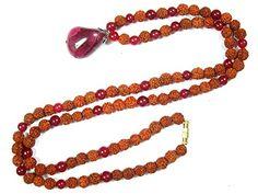 Rudraksha Mala Beads Pink Jade 108 Prayer Buddhist Meditation Rosary, Yoga Gift Mogul Interior http://www.amazon.com/dp/B00RCIDRT4/ref=cm_sw_r_pi_dp_O9uMub00Q0ETK