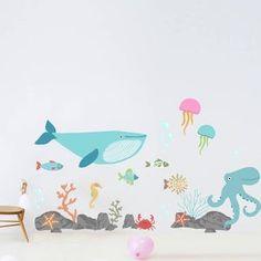 Jungle Monkey Children's' Wall Sticker Set | Etsy Nautical Wall Stickers, Childrens Wall Stickers, Nautical Nursery, Nautical Theme, Decorate Lampshade, Nursery Themes, Themed Nursery, Sales And Marketing, Pet Accessories