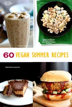 Vegan Summer Recipes for Barbecue, Grill, Picnics. Grill-able Burgers, filling Salads, Drinks, desserts, July 4th cookout menu. Vegan BBQ Vegetarian Grilled Recipes.