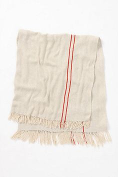 Diagonally woven silk yarns create this impossibly soft blanket.  Twill Stripe Throw #anthropologie $148