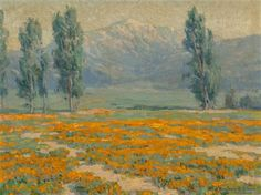 Golden Poppies near Mount San Jacinto, California, Benjamin Chambers Brown