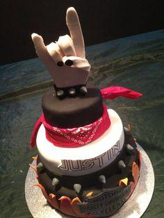 Rock / Bogan themed cake.