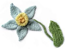 Applique flowers & 1 applique butterly.  Note: some of these are actually knitting patterns