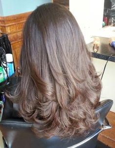 Really like the cut/color and style Haircuts Straight Hair, Haircuts For Medium Hair, Long Layered Haircuts, Medium Hair Cuts, Long Hair Cuts, Medium Hair Styles, Curly Hair Styles, Natural Hair Styles, Hair Goals Color