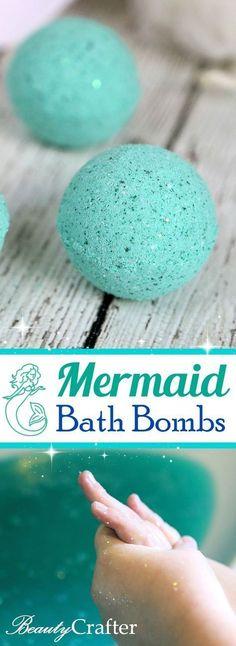 DIY Mermaid Bath Bombs: for a magical sparkling bath (party favors for Mermaid ball)