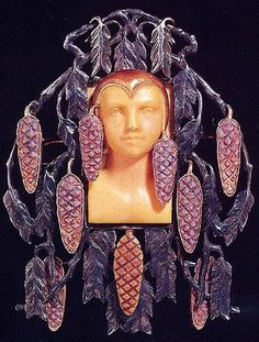 Art Nouveau jewellery by French designer Rene Lalique.