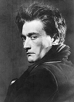 Portrait of Antonin Artaud (Sept. 4, 1896 –  March 4, 1948),  taken by Man Ray c. 1926. Linked to Antonin Artaud's 'Notes from a Theatre of Cruelty'.