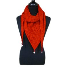 Stacey's 1 ball triangular scarf in King Cole Galaxy dk
