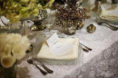 La Tavola Fine Linen Rental: Confetti Organza White Overlay