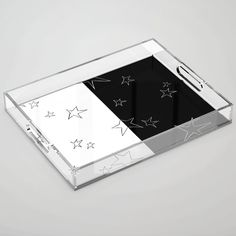Buy Stars - Black and White Acrylic Tray by laec. Worldwide shipping available at Society6.com. Just one of millions of high quality products available. White Acrylics, Color Pop, Tray, Black And White, Store, Products, Colour Pop, Black White, Storage
