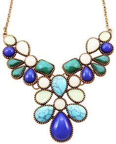 Bijou Brigitte  necklace - blue