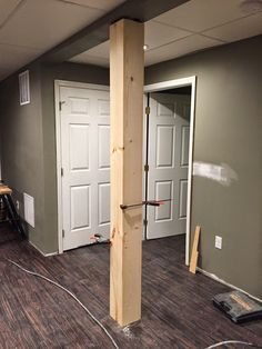 Luxury Basement Support Pole