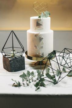 Urban Geometric Chic Heiraten mit Spartipps von Jane Weber | Hochzeitsblog The…