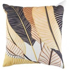 Warm Sands Banana Palm Cushion