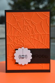 Hand Stamped Stampin' Up Halloween Boo Googly by LoveThoseCards, $3.50
