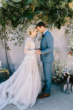 outdoor wedding ceremony ideas - photo by Angela Zion Photography http://ruffledblog.com/dusty-toned-wedding-ideas-inspired-by-the-baltic-sea