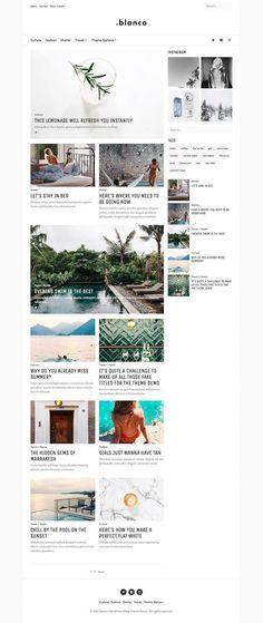 Blanco - Creative Blog Theme by Sopka Themes on @creativemarket