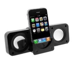 Portable Fold-Up Docking Station Stereo Speakers For Ipod/Mp3 Player Iphone Zune #UnbrandedGeneric
