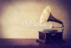 Getting lost in the music of old Royalty Free Stock Photo