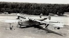 View of the XPB2M-1 Mars on the ground in May 1942