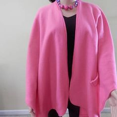 New Hot Pink Ruana Wrap/Boho Kimono/Poncho Shawl/Women Cape/Lightweight Jacket/Plus Size Cape Shawl/Stole/Ruana/Cover up Ruana Wrap, Poncho Shawl, Capes For Women, Boho Kimono, How To Look Classy, Lightweight Jacket, Closets, Fall Outfits, Hot Pink