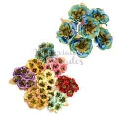 |NEW Miniflowers en  www.materialesparatocados.com #flowers#millinery#hatmaker#hats #headpieces #trimmings #invitadaperfecta