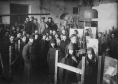 Students of Vkhutemas, Moscow, 1923.