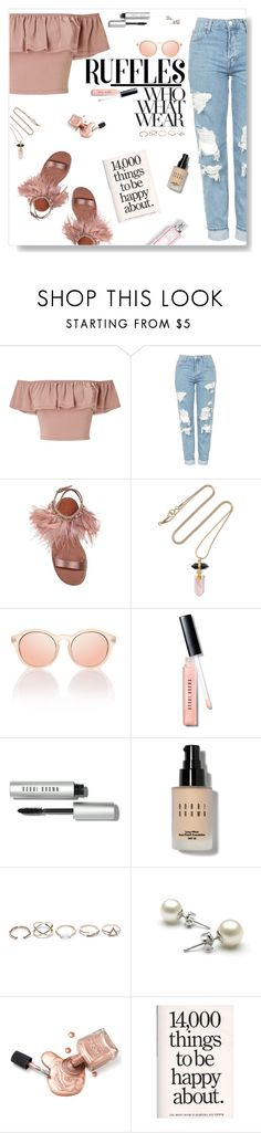 """Ruffles"" by iamthelizardqueen ❤ liked on Polyvore featuring Miss Selfridge, Topshop, Miu Miu, Isabel Marant, Le Specs, Christian Dior, Who What Wear, Bobbi Brown Cosmetics and GUESS"