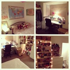 """My bedroom at university"" I hate clutter in rooms but the organisation of this room is beautiful."