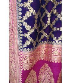 Blue Handloom Banarasi Uppada Silk Saree------  For details of this saree click…