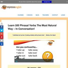 Learn 500 Phrasal Verbs the Most Natural Way – In Conversation! – Espresso English
