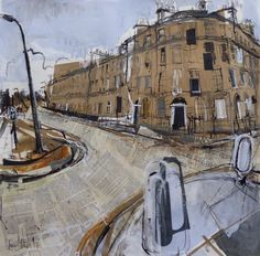 Bellevue Terrace, New Town Mixed Media with collage, 69 x 68cm, 2017 This painting is featured on the poster and card of the upcoming 'Art Friends of St Columba's Hospice' annual art exhibition. It will be on sale in the show, 20-22 October, at the...
