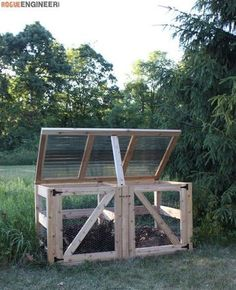 DIY Double Compost Bin Plans - Freexcafe Plans | http://rogueengineer.com #DoubleCompostBin #OutdoorDIYplans