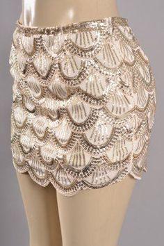 #E's Closet               #Skirt                    #Scallop #Sequin #Skirt   Scallop Sequin Skirt                                http://www.seapai.com/product.aspx?PID=1057393