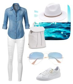 """""""Sunset"""" by mamiboavida on Polyvore featuring Frame, LE3NO, Ray-Ban, Aéropostale, Summer, sunset and summerstyle"""