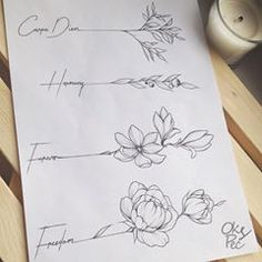 Best Tattoo Watercolor Sketch Tat Ideas tattoo designs ideas männer männer ideen old school quotes sketches Mini Tattoos, Cute Tattoos, Flower Tattoos, Body Art Tattoos, New Tattoos, Small Tattoos, Tattoos For Guys, Tatoos, Text Tattoo
